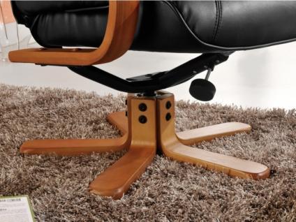 Relaxsessel Fernsehsessel + Sitzhocker Docia - Schwarz - Vorschau 4