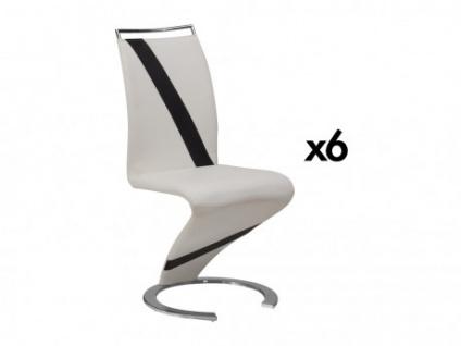 Stuhl Freischwinger 6er-Set Twizy - Limited Edition - Weiß