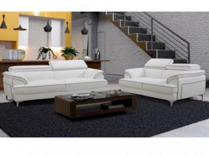 Couchgarnitur 3+2 Voltaire - Weiß
