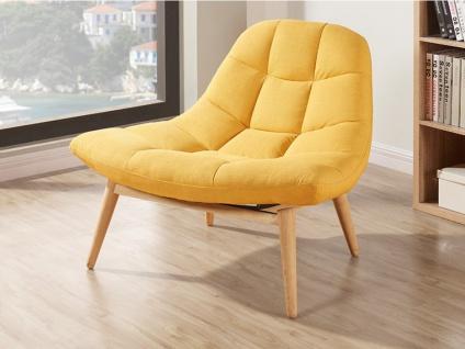 Lounge-Sessel Stoff Kribi - Gelb - Vorschau 3
