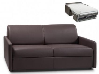 Schlafsofa 3-Sitzer CALIFE - Braun - Liegefläche: 140 cm - Matratzenhöhe: 22cm