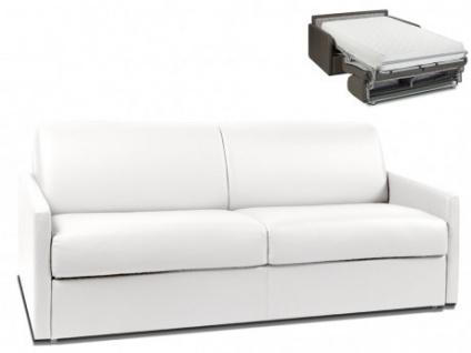 Schlafsofa 4-Sitzer CALIFE - Weiß - Liegefläche: 160 cm - Matratzenhöhe: 22cm