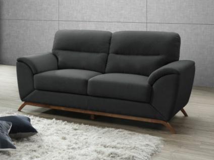 2 Sitzer Sofa Microfaser Yasmine Anthrazit