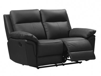 Relaxsofa 2-Sitzer PAKITA - Büffelleder - Schwarz