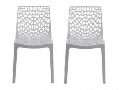 Stuhl 2er-Sets Diadem - Kunststoff - Weiß