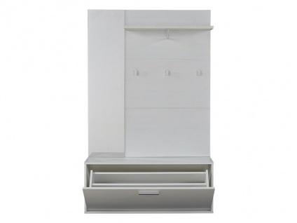Garderobe CALEB - 1 Tür & 1 Ablage - Kiefernholzfarben - Vorschau 2
