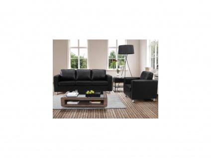 Couchgarnitur 3+1 Ackley - Schwarz