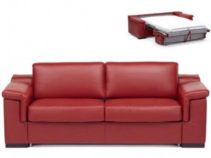 Ledersofa Schlafsofa mit Matratze 3-Sitzer Hippias II - Luxusleder - Rot