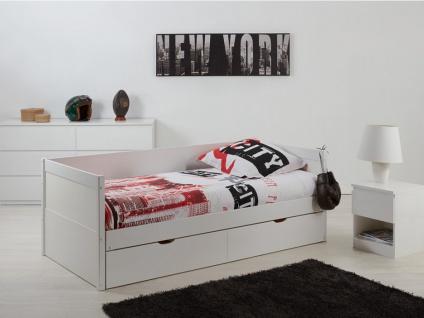 Ausziehbett mit Bettkasten ALFIERO + Lattenrost - 90x190cm - Vorschau 1