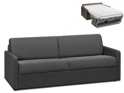 Schlafsofa 4-Sitzer CALIFE - Stoff - Grau - Liegefläche: 160 cm - Matratzenhöhe: 22cm