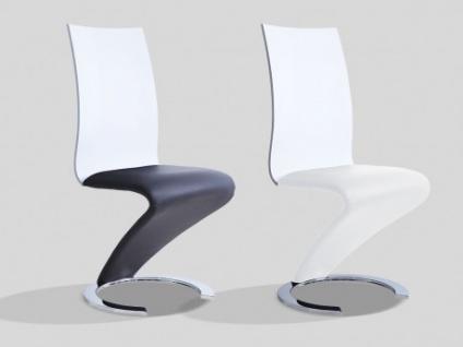 Stuhl 6er-Set TWIST - Schwarz/Weiß