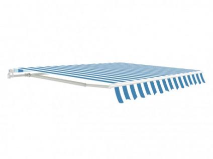 Gelenkarm Markise PALEAS - 3, 95x2, 5m - Blau/Weiß gestreift