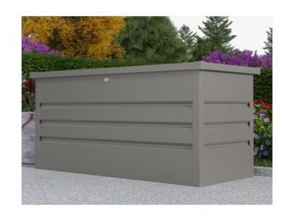 Garten-Aufbewahrungsbox TOMASO - Stahl - Grau - Volumen 400L