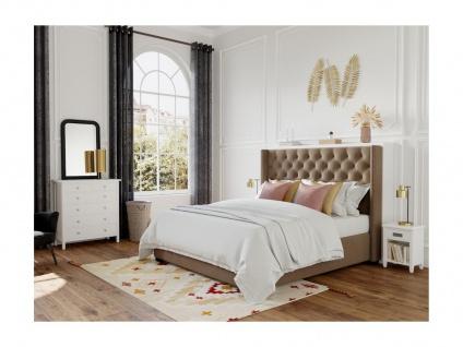 Kommode Landhaus Stil Holz Albane - 6 Schubladen - Weiß
