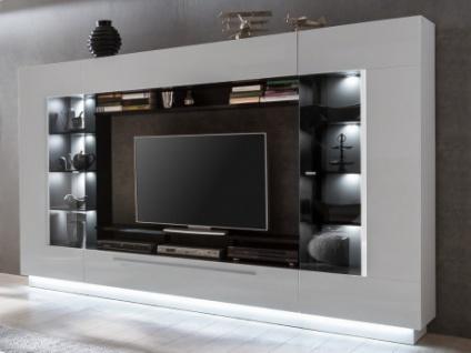 TV-Möbel TV-Wand mit Stauraum & LED-Beleuchtung BLAKE