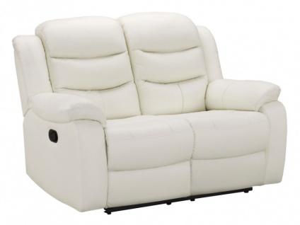 Relaxsofa Leder 2-Sitzer Pliton - Elfenbein - Vorschau 2