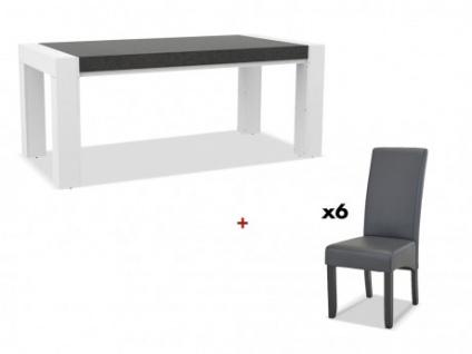 Sparset: Esstisch ASTEROIDE + 6 Stühle ROVIGO