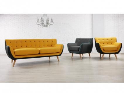 Sessel Stoff Serti - Gelb & Grau - Vorschau 4