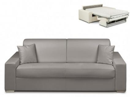 Schlafsofa 4-Sitzer EMIR - Grau - Liegefläche: 160cm - Matratzenhöhe: 14cm