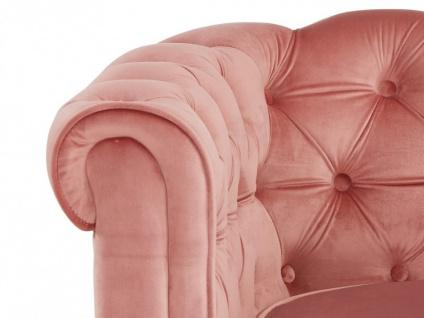 3-Sitzer-Sofa Chesterfield Samt ANNA - Rosa - Vorschau 5