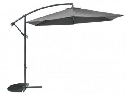 Sonnenschirm höhenverstellbar mit Fuß Capelina - Durchmesser: 250 cm - Grau