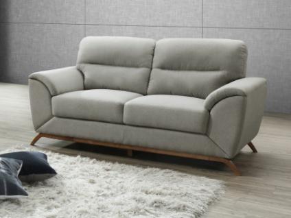 2-Sitzer-Sofa Microfaser YASMINE - Grau