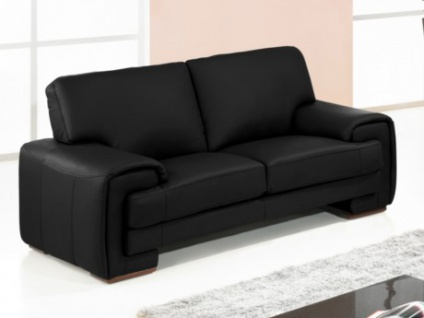 ledersofa schwarz 2 sitzer online kaufen bei yatego. Black Bedroom Furniture Sets. Home Design Ideas