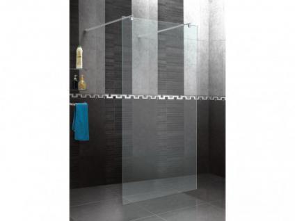 Duschtrennwand Seitenwand für bodengleiche italienische Dusche Angela - 100x190 cm