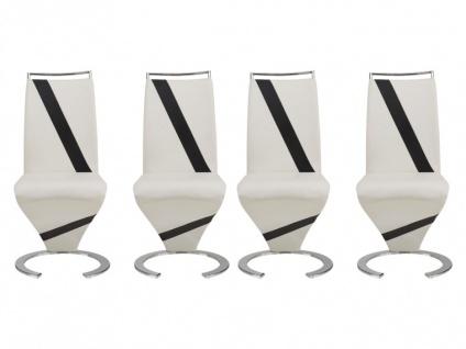 Stuhl Freischwinger 4er-Set Twizy - Limited Edition - Weiß - Vorschau 4