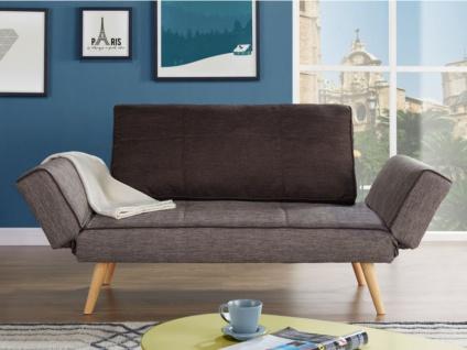 schlafsofa klappsofa stoff ebaty taupe braun kaufen bei kauf. Black Bedroom Furniture Sets. Home Design Ideas