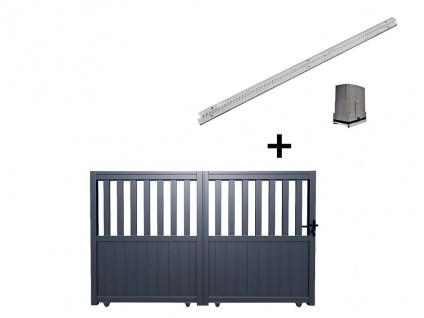 Gartentor Schiebetor TARNOS - Aluminium - mit Torantrieb - B400 x H140 cm