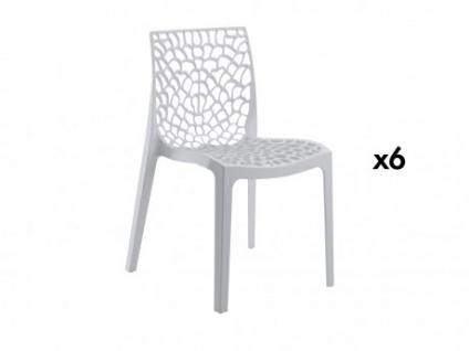 Stuhl 6er-Sets Diadem - Kunststoff - Weiß