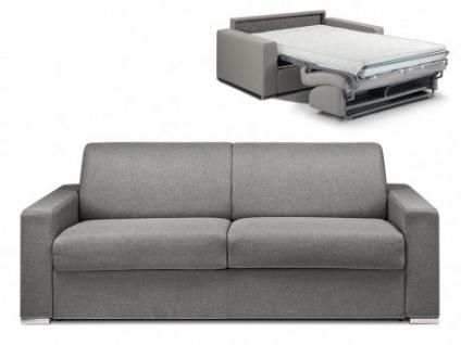 Schlafsofa 4-Sitzer Stoff CALITO - Anthrazit - Liegefläche: 160 cm - Matratzenhöhe: 22cm