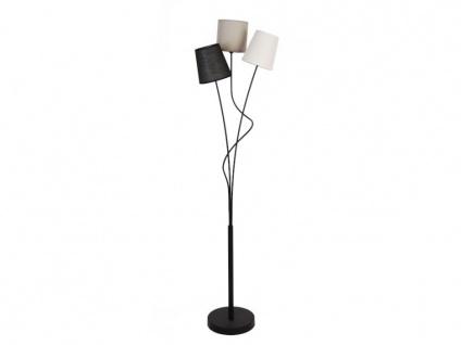 Stehleuchte Modern Stoff VERITAS - 23x23x149, 5cm - Grau, Schwarz, Weiß