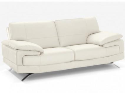 Ledersofa 2-Sitzer Emotion - Standardleder - Weiß
