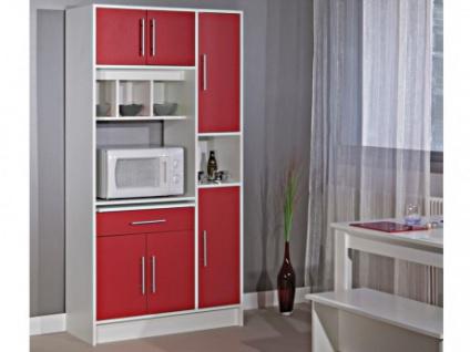 Küchenbuffet Buffetschrank MADY - Rot - Vorschau 1