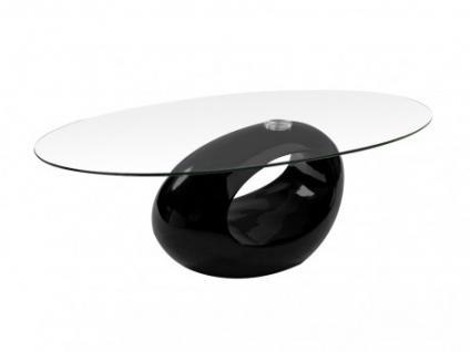 Couchtisch Glas Pebble - Schwarz
