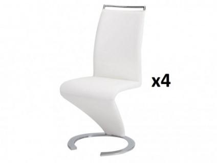 Stuhl Freischwinger 4er-Set Twizy - Weiß