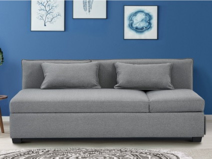 3-Sitzer-Sofa Stoff MOSINA - Grau - Vorschau 1