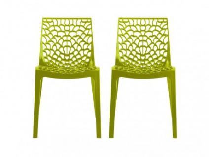 Stuhl 2er-Set Diadem - Kunststoff - Anisgrün