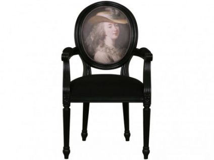 Sessel Retro Stoff Charlotte - Motiv Madame du Barry