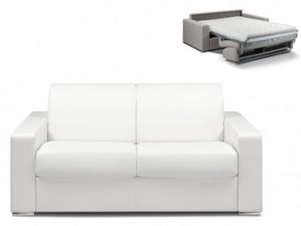 Schlafsofa 2-Sitzer CALITO - Weiß - Liegefläche: 120 cm - Matratzenhöhe: 14cm