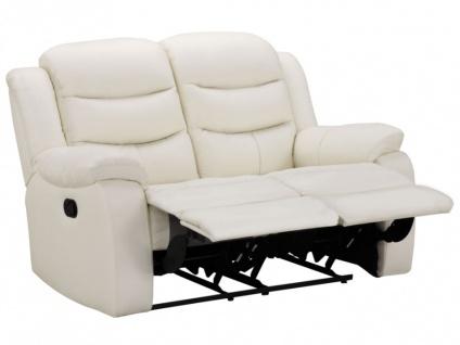 Relaxsofa Leder 2-Sitzer Pliton - Elfenbein - Vorschau 3