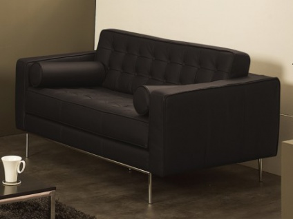 Ledersofa 2-Sitzer Vittoria - Luxusleder - Braun