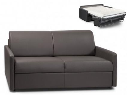 Schlafsofa 3-Sitzer CALIFE - Grau - Liegefläche: 140 cm - Matratzenhöhe: 18cm