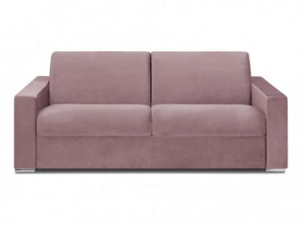 Schlafsofa 4-Sitzer Samt CALITO - Rosa - Liegefläche: 160 cm - Matratzenhöhe: 22cm