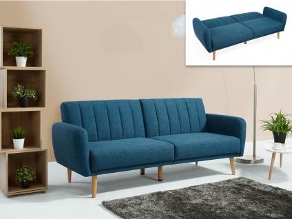 Schlafsofa 3-Sitzer VENLO - Stoff - Blau