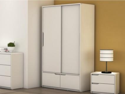 Kleiderschrank LUCILE - 2 Türen, 2 Schubladen - Weiß
