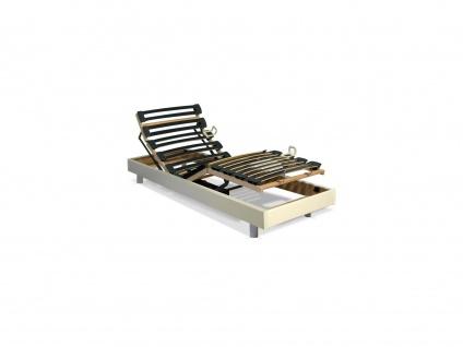 Relax-Untergestell aus verleimten Latten - 5 Positionen - Festigkeit regulierbar - 70x190cm - weiß