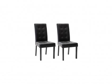 Stuhl 2er-Set Holz VILLOSA - Schwarz